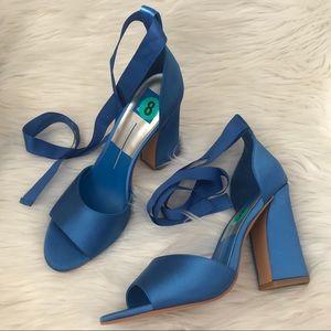 6f5629e23d Dolce Vita Shoes   Blue Lace Up Satin Harvey Block Heel Sandal ...
